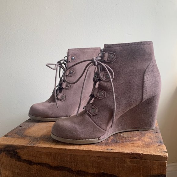 dressy wedge booties